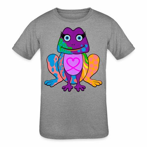 I heart froggy - Kids' Tri-Blend T-Shirt