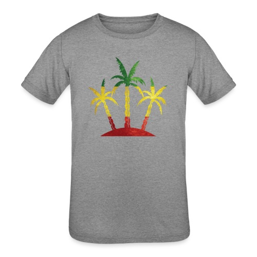 Palm Tree Reggae - Kids' Tri-Blend T-Shirt
