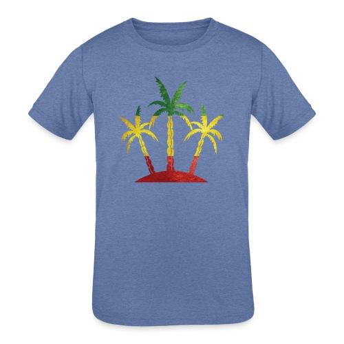 Palm Tree Reggae - Kids' Tri-Blend T-Shirt
