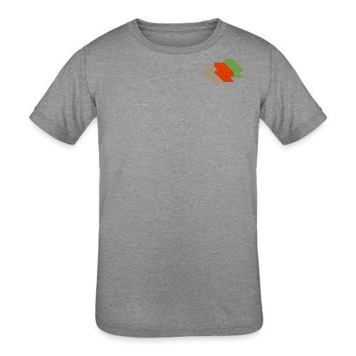 3D Single Rail Track California - Kids' Tri-Blend T-Shirt