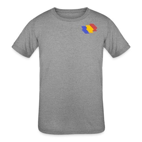 3D Single Rail Track Texas - Kids' Tri-Blend T-Shirt