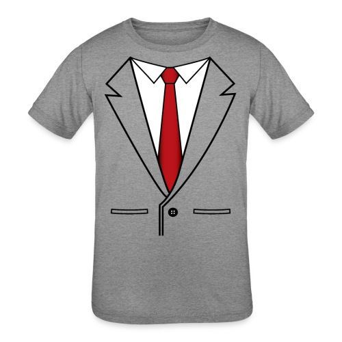 Suit and Red Tie - Kids' Tri-Blend T-Shirt