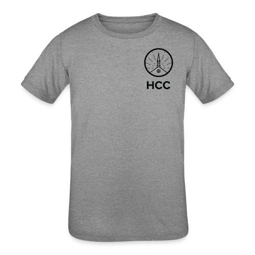 HCC Logo Letters Black - Kids' Tri-Blend T-Shirt
