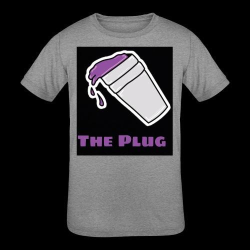 the Plug logo - Kids' Tri-Blend T-Shirt