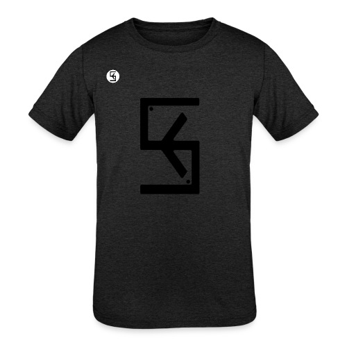 Soft Kore Logo Black - Kids' Tri-Blend T-Shirt