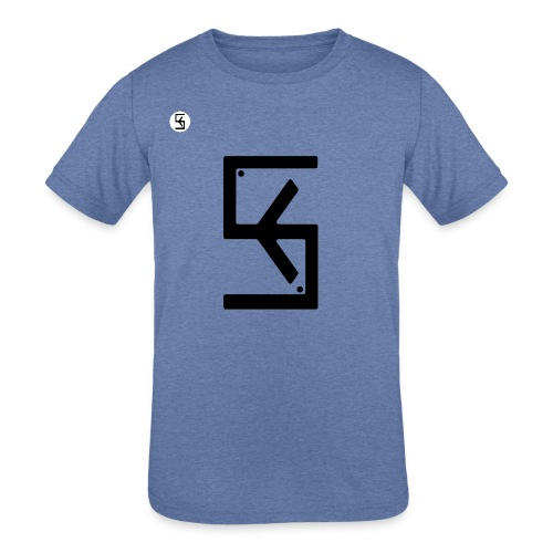 Soft Kore Logo Black - Kids' Tri-Blend T-Shirt