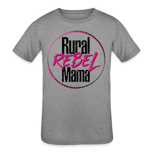 Rural Rebel Mama Logo - Kids' Tri-Blend T-Shirt