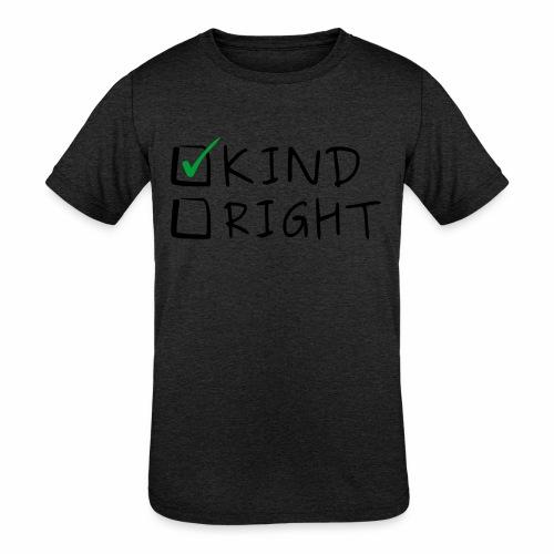 Choose Kind Anti-Bullying - Kids' Tri-Blend T-Shirt