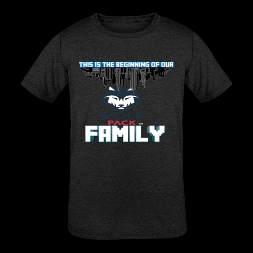 We Are Linked As One Big WolfPack Family - Kids' Tri-Blend T-Shirt