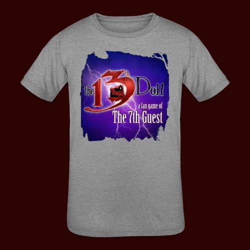 The 13th Doll Logo With Lightning - Kids' Tri-Blend T-Shirt