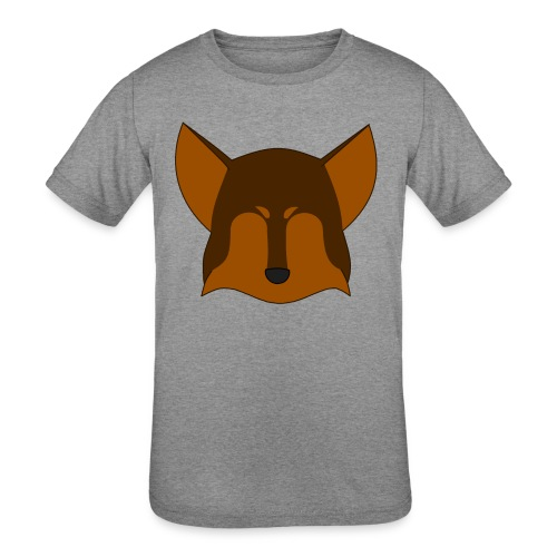 Simple Wolf Head - Kids' Tri-Blend T-Shirt