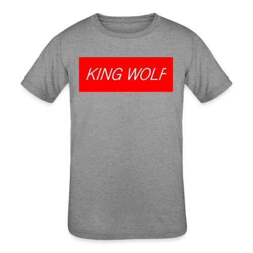 KING WOLF - Kids' Tri-Blend T-Shirt
