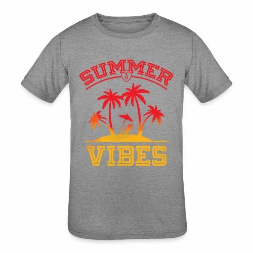 Summer Vibes - Kids' Tri-Blend T-Shirt