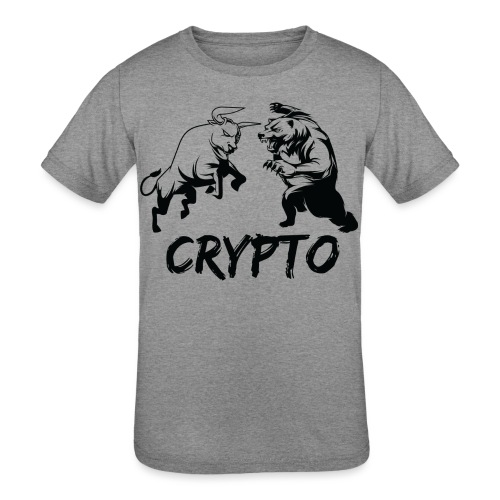 CryptoBattle Black - Kids' Tri-Blend T-Shirt