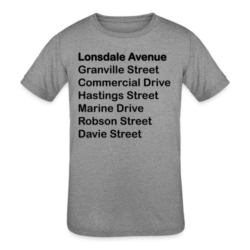 Street Names Black Text - Kids' Tri-Blend T-Shirt