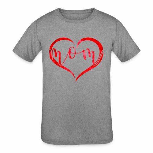 Love mom - Kids' Tri-Blend T-Shirt