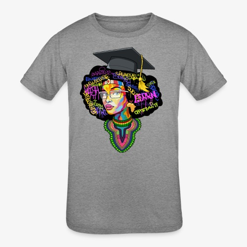Smart Black Woman - Kids' Tri-Blend T-Shirt