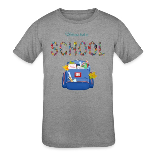 welcome back to school kids 2019 - Kid's Tri-Blend T-Shirt