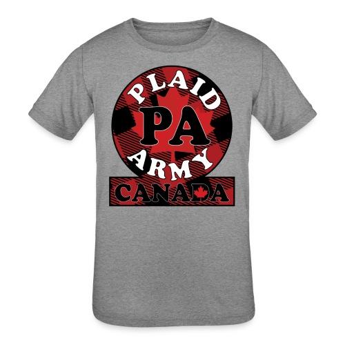 Plaid Army Canada - Kids' Tri-Blend T-Shirt