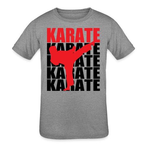 Karate - Kids' Tri-Blend T-Shirt