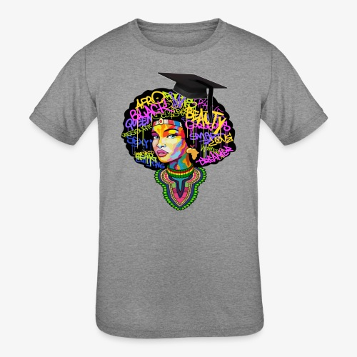 Graduation Melanin Queen Shirt Gift - Kids' Tri-Blend T-Shirt
