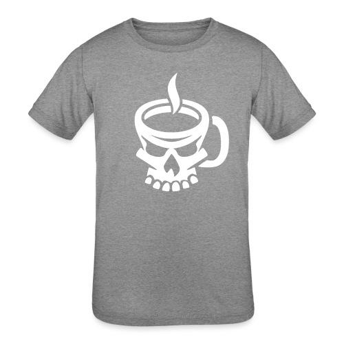 Caffeinated Coffee Skull - Kids' Tri-Blend T-Shirt