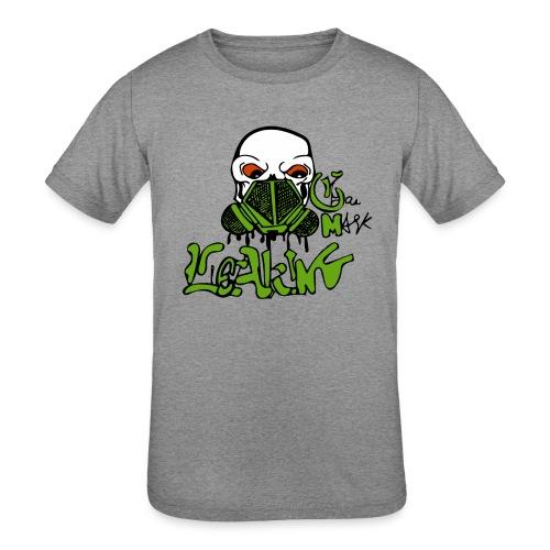 Leaking Gas Mask - Kids' Tri-Blend T-Shirt