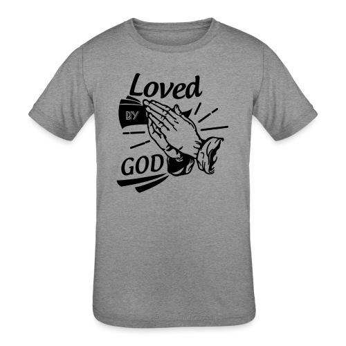 Loved By God (Black Letters) - Kids' Tri-Blend T-Shirt
