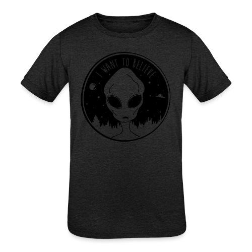 I Want To Believe - Kids' Tri-Blend T-Shirt