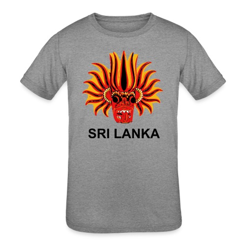 Sri Lanka Mask - Kids' Tri-Blend T-Shirt