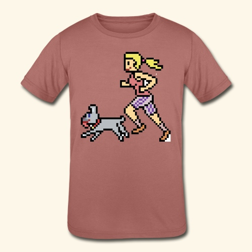 RunWithPixel - Kids' Tri-Blend T-Shirt