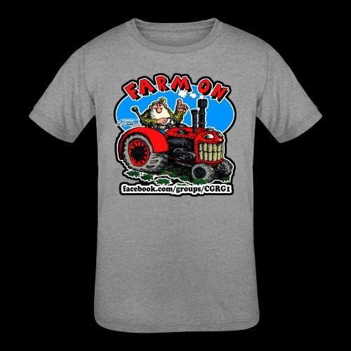 Mr Natural Farm On - Kids' Tri-Blend T-Shirt