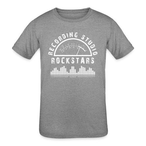 Recording Studio Rockstars - White Logo - Kids' Tri-Blend T-Shirt