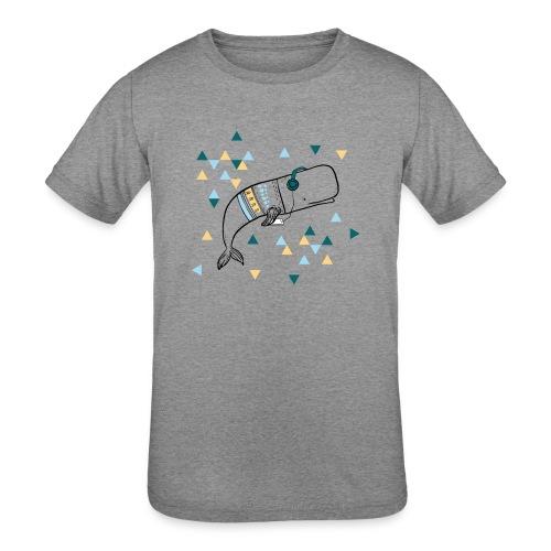 Music Whale - Kids' Tri-Blend T-Shirt
