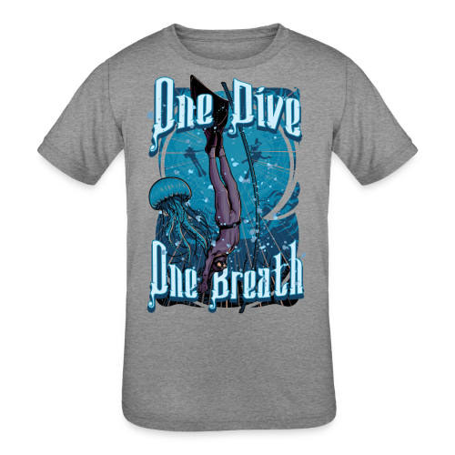 One Dive One Breath Freediving - Kids' Tri-Blend T-Shirt
