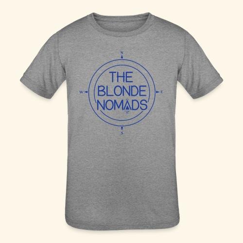 The Blonde Nomads Blue Logo - Kids' Tri-Blend T-Shirt