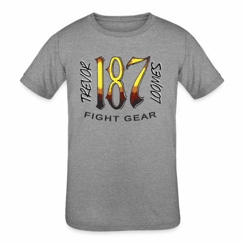 Coloured Trevor Loomes 187 Fight Gear Logo - Kids' Tri-Blend T-Shirt