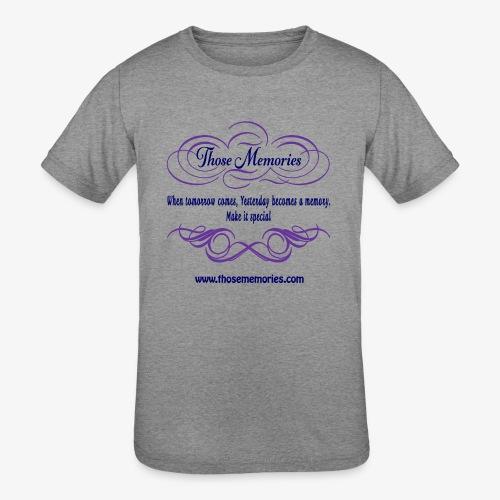 Those Memories Logo - Kids' Tri-Blend T-Shirt