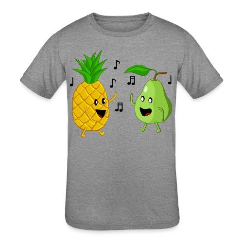 Dancing Pineapple and Pear - Kids' Tri-Blend T-Shirt