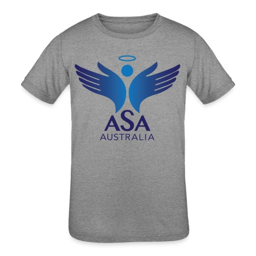 3459 Angelman Logo AUSTRALIA FA CMYK - Kids' Tri-Blend T-Shirt
