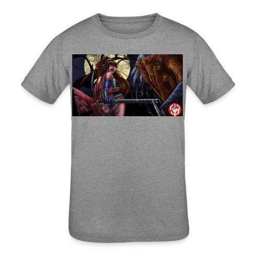 Anime Demon Hunter - Kids' Tri-Blend T-Shirt