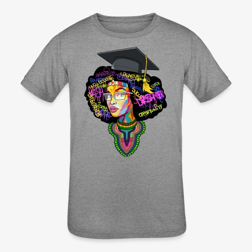 Black Educated Queen School - Kids' Tri-Blend T-Shirt