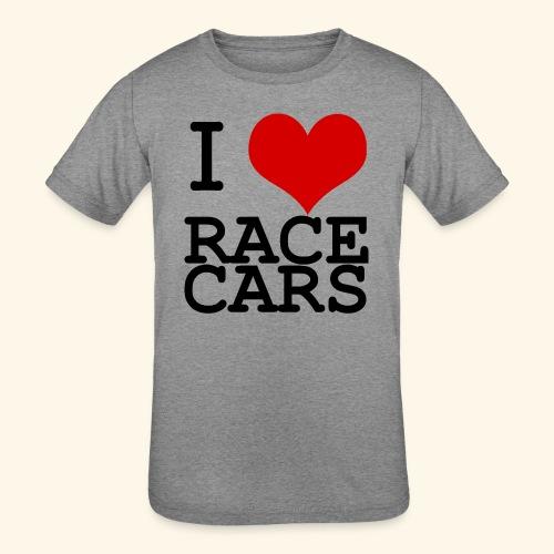 I Love Race Cars - Kids' Tri-Blend T-Shirt