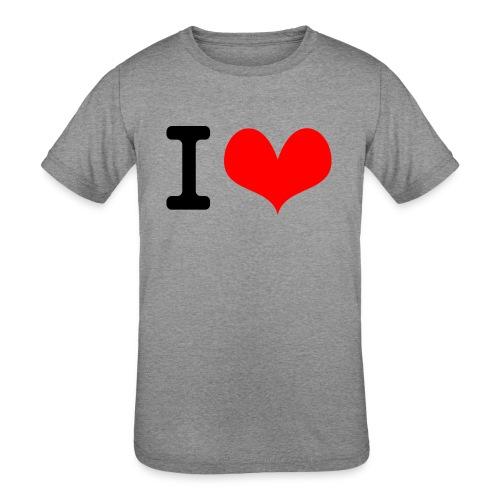 I Love what - Kids' Tri-Blend T-Shirt