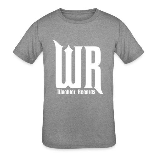 Wachler Records Light Logo - Kids' Tri-Blend T-Shirt