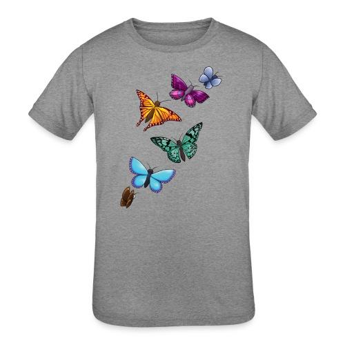 butterfly tattoo designs - Kids' Tri-Blend T-Shirt