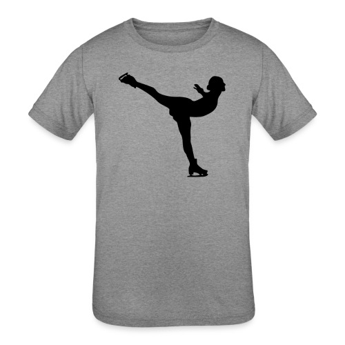 Ice Skating Woman Silhouette - Kids' Tri-Blend T-Shirt