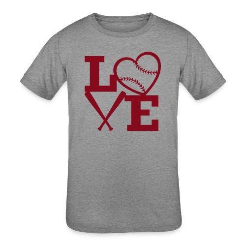 Love baseball - Kids' Tri-Blend T-Shirt