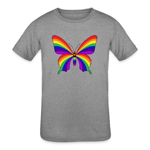 Rainbow Butterfly - Kids' Tri-Blend T-Shirt