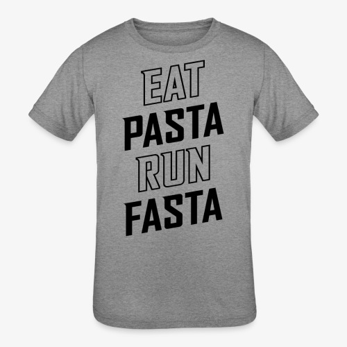 Eat Pasta Run Fasta v2 - Kids' Tri-Blend T-Shirt